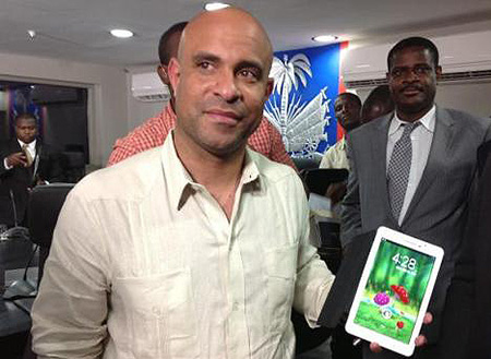 First made-in-Haiti tablet captures local youth's interest